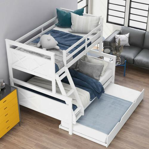wood twin over full bunk bed frame