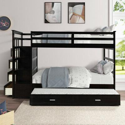 Wood Twin Bunk Beds Loft Bed Bed Bedding