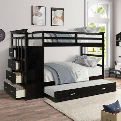 wood twin over twin bunk beds loft