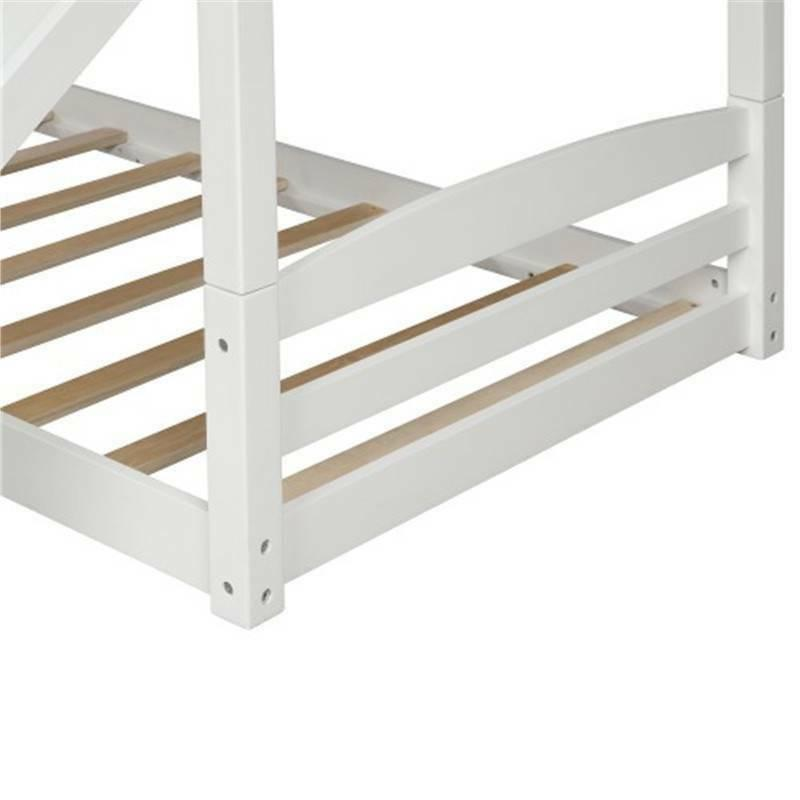 Wood Twin over Twin Low Wood Bunk Slide @cy