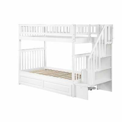 Woodland Bunk Twin over Twin with Twin White