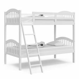 Storkcraft Longhorn Hardwood Twin Bunk Bed - with Ladder and