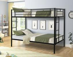 Metal Bunk Bed Twin over Twin size with Two-side Ladders Bed