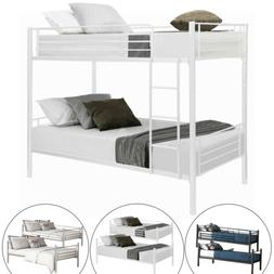 Metal Bunk Beds Split 2 Beds Frame Twin Over Twin Size Ladde