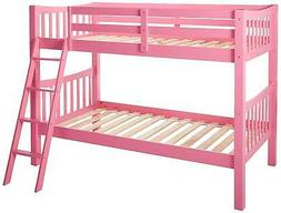 Donco Kids Mission Bunk Bed Pink Twin/Twin