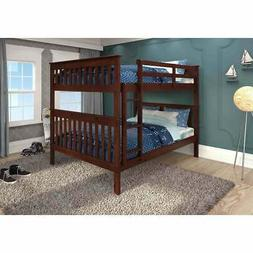 Donco Kids Mission Pine Full-over-full Bunk Bed Light Espres