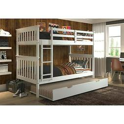 mission twin over twin bunk bed