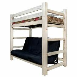 Montana Twin Bunk Bed Over Full Futon With Mattress In Lacqu
