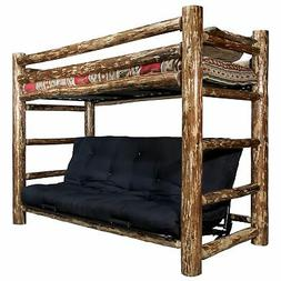 Montana Twin Bunk Bed Over Full Futon With Mattress MWGCTWFM