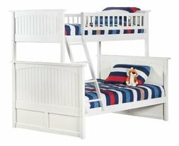Nantucket Bunk Bed, Twin over Full, White
