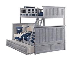 Atlantic Furniture Nantucket Bunk Bed Twin Over Full with Ra