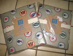 NEW BED SHEET 2 SETS FOOTBALL POTTERY BARN TWIN XL AFC BUNK