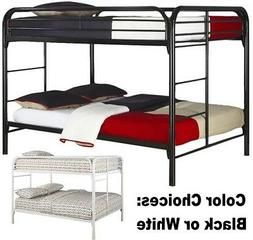 NEW Full Over Full Size Metal Bunk Bed Beds Kids Bedroom Fur