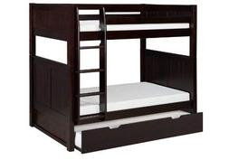 Camaflexi Panel Style Solid Wood Bunk Bed with Trundle, Twin