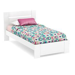 South Shore Reevo 39 Inch Twin Bed Set in Pure White