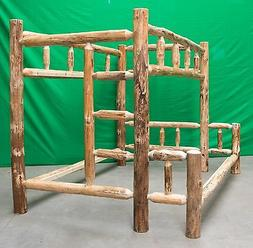 Rustic Log Bunk Bed - Twin Over Queen $1099.00 - Free Shippi