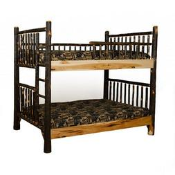 Rustic Hickory Mission Style Twin over Queen Bunk Bed - Amis