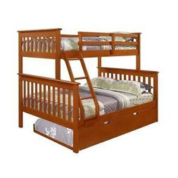 Twin/Full Mission Bunk Bed W/Twin Trundle
