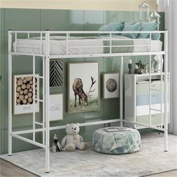 twin loft bunk bed metal ladder bunk