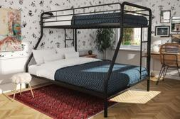 Twin Over Full Bunk Bed Metal Dorel Multiple Colors Space-Sa