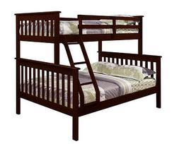 Twin over Full BUNK BED - Donco Kids - Wood w/xtra Full Supp