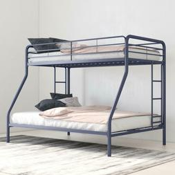 DHP Twin Over Full Metal Bunk Bed Frame Kids Bedroom Furnitu