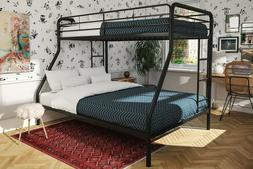 Twin Over Full Metal Bunk Bed Frame Kids Bedroom With Ladder