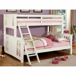 Bowery Hill Twin over Queen Bunk Bed in White