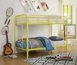 Acme Furniture - Twin-Over-Twin Bunk Bed with Metal Frame an