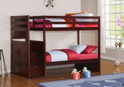 Twin over Twin Loft Bed Bunkbed with Stairs with Storage Dra