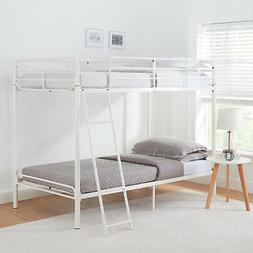 Mainstays Twin over Twin Metal Bunk Bed W/ Ladder Kids Doubl