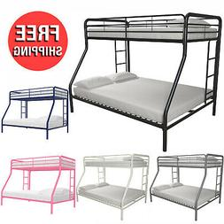 Twin Size over Full Size Metal Bunk Bed Double Deck Frame Ki