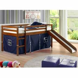 twin size tent loft bed with slide