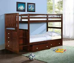 twin twin or full stairway bunk bed