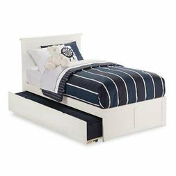 Rosebery Kids Urban Twin Platform Bed with Trundle in White