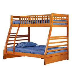 Saltoro Sherpi Wooden Twin Over Full Bunk Bed with 2 Drawers