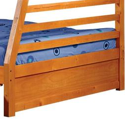 Saltoro Sherpi Wooden Twin Over Full Bunk Bed with Slatted G