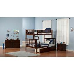 Woodland Bunk Bed Twin over Full with Flat Panel Bed Drawers