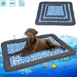 XL Chilly Ice Gel Mat Pad Pet Dog Cooling Bed Kennel For Lar