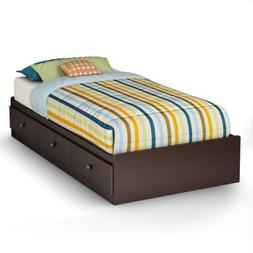 South Shore Zach Twin Mates Bed, Chocolate